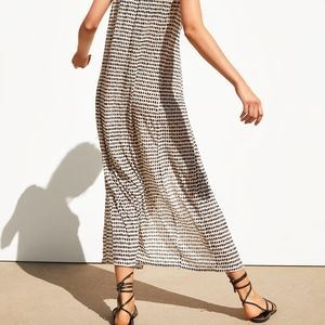 Zara Dresses - ZARA Printed Dot Maxi Dress with Pleat Details